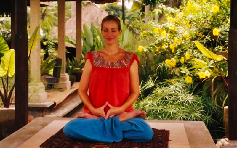 julia roberts, eat pray love, meditation, meditate, wandering thoughts