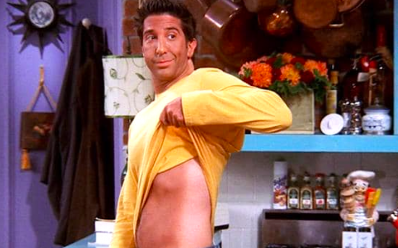 friends, ross geller, fake tan, tan line, mania, madness, spring, may, may-nia