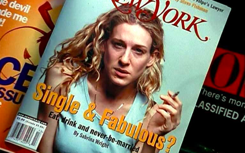 sex and the city, carrie bradshaw, new york magazine, bad photo, embarrassing photo, dark past, photograph