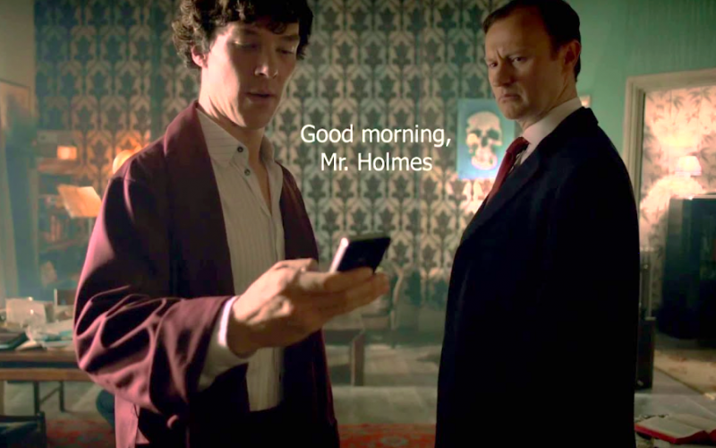 sherlock holmes, benedict cumberbatch, mobile, texting, autocorrect, automatic, spelling