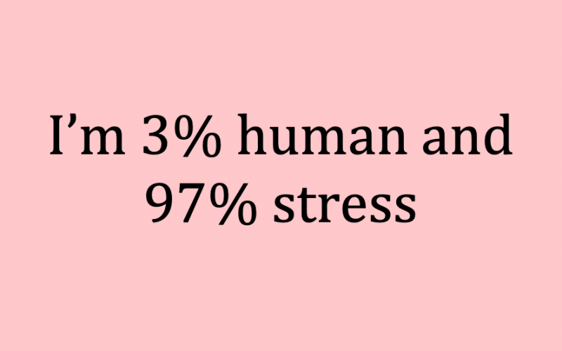 3 per cent human 97 per cent stress, meme, midults, breakdown, percentages, what we are made of