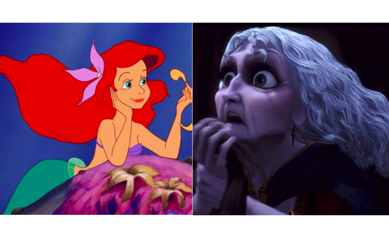 fine line, blurred boundaries, fine line between, arial, little mermaid, mother gothel, old witch
