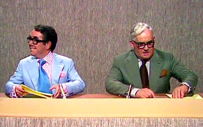 the two ronnies, ronnie, sketch, comedy, news, anchorman