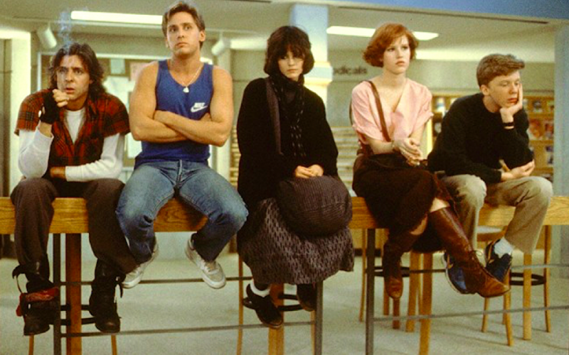 the breakfast club, relationships, friendships, all the different types