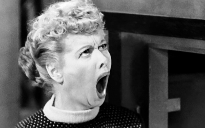 lucille ball, shocked, wide mouthed, outraged