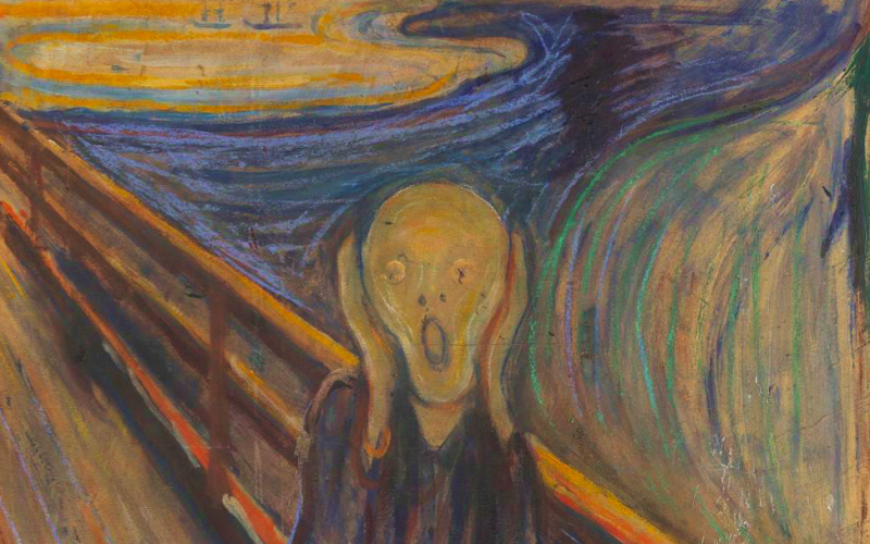 munch, scream, painting, panic, anxiety, spiralling thoughts, the thought spiral