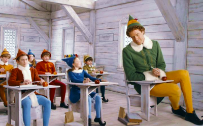 elf, will ferrell, school, desk, learning, wish we'd learnt