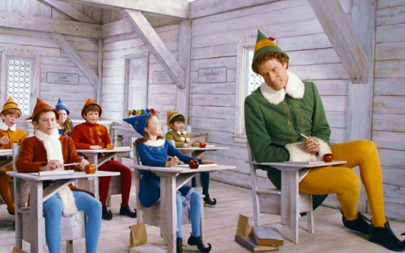 elf, will ferrell, school, desk, learning, wish we'd learnt