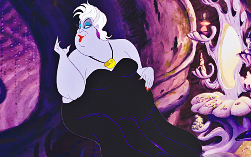 ursula, little mermaid, no more mrs nice midult