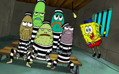 spongebob squarepants, prison, criminal, jail, illegal activities
