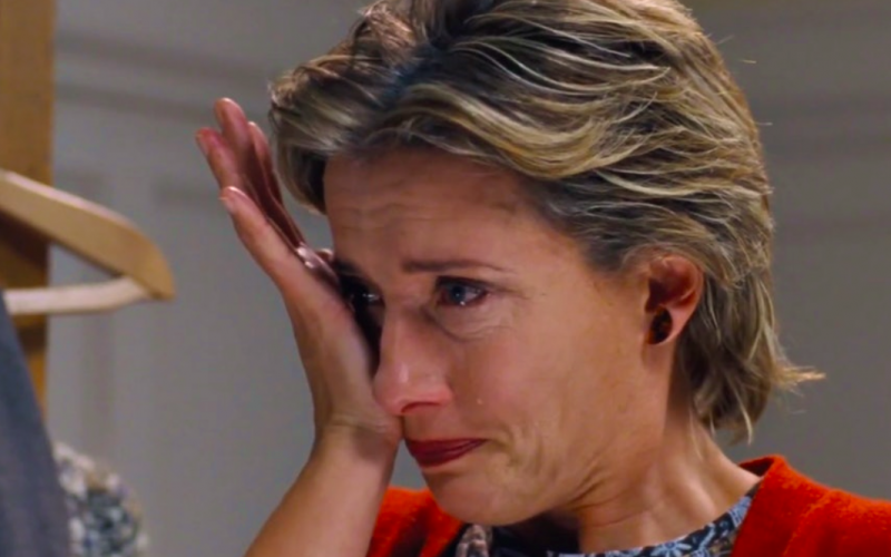 emma thompson, love actually, breakdown, crying, tears