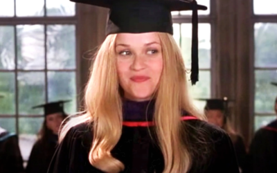 legally blonde, elle woods. reese witherspoon, graduation, higher education, university