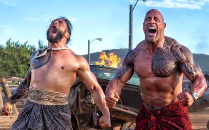 fast and furious, dwayne johnson, the rock, maori dance, greetings, weird, eccentric, no contact